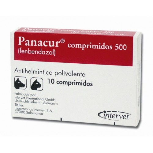 Panacur 500 mg. 10 comprimidos