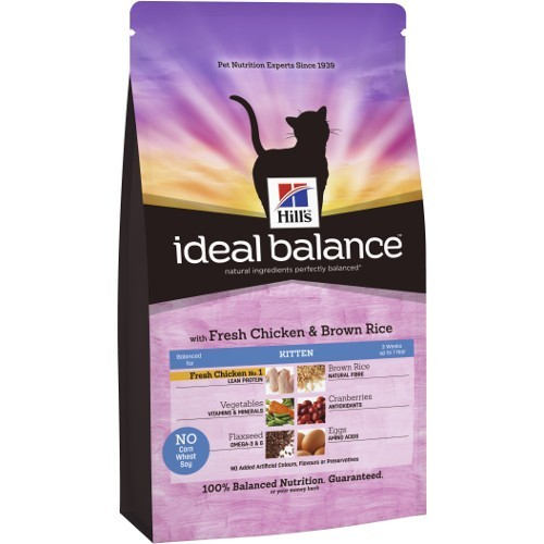 Ideal Balance Kitten com frango e arroz