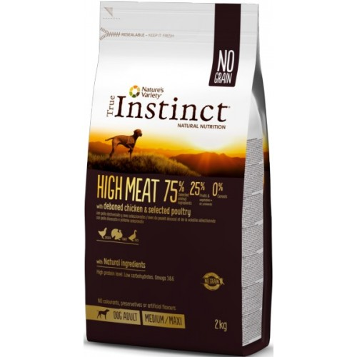 TRUE INSTINCT HIGH MEAT MEDIUM/MAXI – ADULT