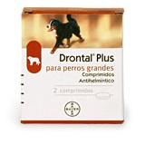DRONTAL PLUS PERROS GRANDES 2 COMPR.