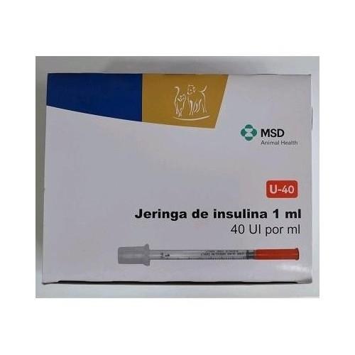 Jeringa insulina MSD 40 U.I. 0.5 ml. caja de 30 Uds