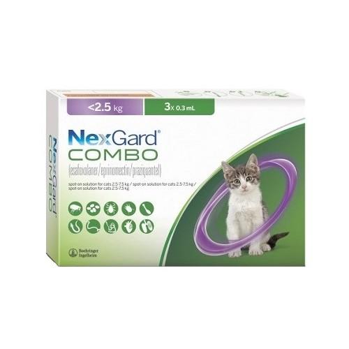 Nexgard Combo cat less than 2.5 kg